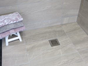 Tiled Wet Floor with steel gulley